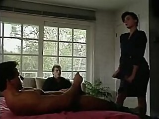 Wife fucked by friend while hubby jerks-off