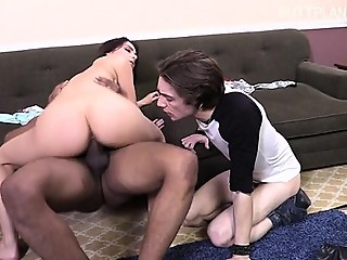 Sexy gf crying anal