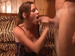 She loves 2 cocks in her mouth