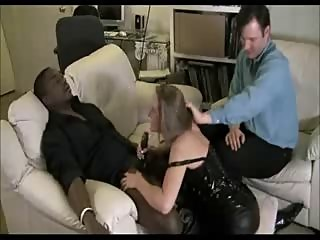 Interracial Wife Cuckold Blowjob